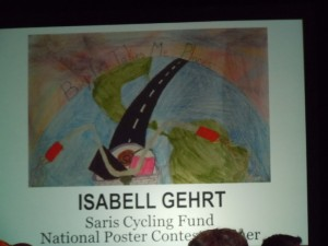 Isabell Gehrt, an elementry student from Iowa won the NBS poster contest and was honored.