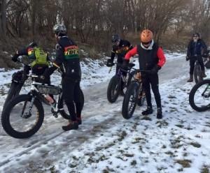 fat bikes on ice