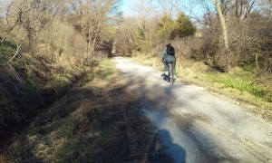 rider on repaired trail