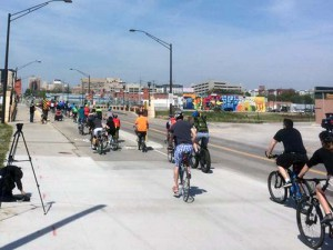 N Street Cycle Track grand opening - April 23, 2016