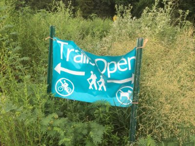 nature center trail banner
